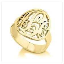 Monogram Ring Gold Monogram Rings
