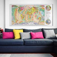 Personalised World Map Pinboard by Large Framed World Map