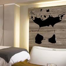 online get cheap plastic stencil for furniture aliexpress com d345 large banksy panda wall art mural stencil sticker transfer high quality vinyl