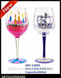 thick stem wine glass giant wine glass flower christmas halloween