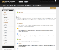 how to set a different theme for a moodle course elearning themes