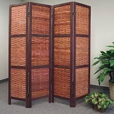wicker room divider saigon walnut woven bamboo room divider walmart com