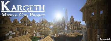 Castle Maps For Minecraft Kargeth Medieval City World Project Minecraft Project