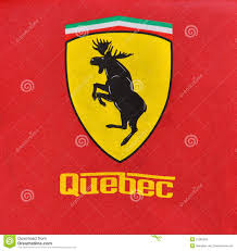 ferrari hood emblem deer logo stock photos royalty free images
