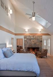ceiling fan too big for room vaulted ceilings cabin living room rustic with double height for