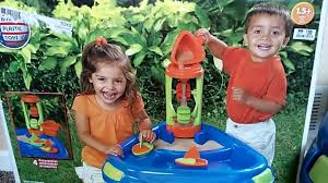 step2 waterwheel play table american plastic sand water wheel play table review youtube