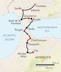 Cape Air Route Map by Southern Spain To Morocco Itinerary U0026 Map Wilderness Travel