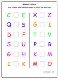 lkg english capital missing letters worksheet kindergarten