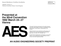 aes e library general metatheory of auditory localisation