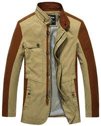 jeep rich jacket wantdo men s stand collar cotton coat us medium khaki brought to