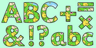 themed letters themed display lettering easter letters