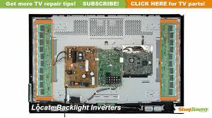tv turns on backlight inverter immediately turns off tv repair