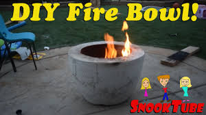 Concrete Fire Pit by Diy Homemade Concrete Fire Bowl Youtube