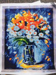 diamond embroidery kits 3d flower vase painting designs on canvas