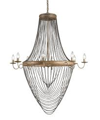 Gold Leaf Chandelier Currey And Company 9412 Lucien 46 Inch Wide 8 Light Chandelier