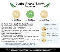 Photo Booth Cost Packages Nature Booth