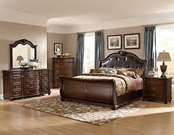 Leather Sleigh Bed Queen Sized Sleigh Beds