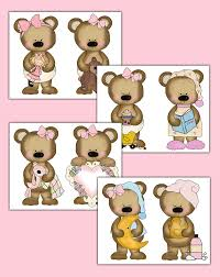 teddy bear wallpaper border wall decals nursery stickers 205