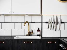 black white kitchen decordots scandinavian interior