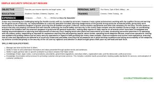 personnel security specialist resumes u0026 cover letters