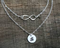infinity necklace with initials layered infinity initial necklace personalized infinity