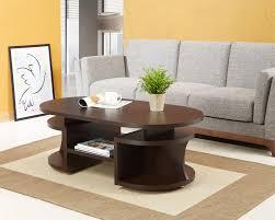 furniture of america leo walnut coffee table home furniture