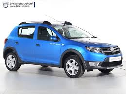 used dacia sandero stepway blue for sale motors co uk