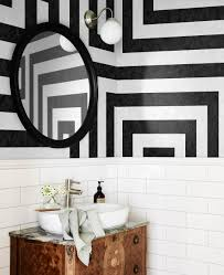 Black And White Wallpaper For Bathrooms - 10 striped wallpaper design ideas bright bazaar by will taylor
