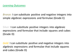 substitution differentiated worksheet grade e d by fionajones88