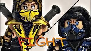 Mortal Kombat Scorpion Halloween Costume Lego Custom Mortal Kombat Scorpion U0026