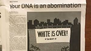 student newspaper blasted anti white your dna is an