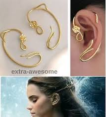 s ear cuffs beauty and the beast earrings ear cuff gold stud jewellry