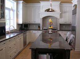 granite countertop white cabinet kitchen images shallow