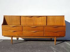mid century danish modern teak storage bench chest mid century