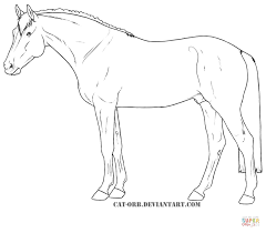 hanoverian horse coloring free printable coloring pages