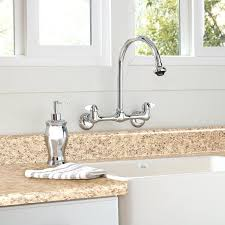 wall mounted kitchen faucets fantastic wall mounted kitchen faucet the kitchen of the year