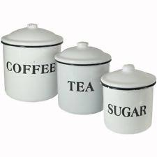 enamel kitchen canisters enamel kitchen canister sets ebay