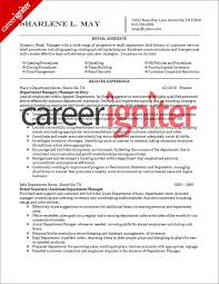 Sample Resumes For Retail by 78 Example Retail Resume Resume For Retail Management 100