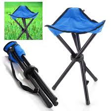 Fold Up Outdoor Chairs Amazon Com Camping Folding Stool Blue Portable 3 Legs Chair