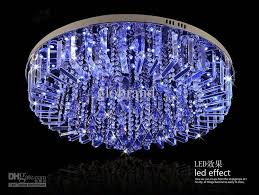 blue crystal chandelier light dia 60cm 80cm led rgb chandelier modern crystal chandeliers l