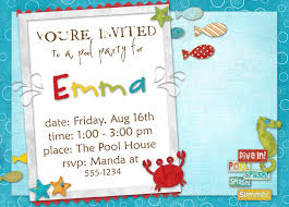 free birthday party invitation templates for kids free printable