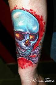 skull and crossbones tattoo remis tattoo