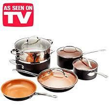 batterie de cuisine en cuivre 5726 batterie de cuisine avec poêles et casseroles en cuivre très