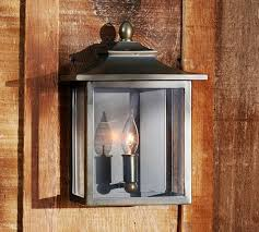pottery barn lighting sconces classic indoor outdoor sconce pottery barn