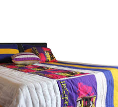 King Size Quilted Bedspreads Buy Stylish Yellow Taxi King Size Quilted Bedspread Online