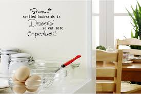 amazon com stressed spelled backwards is desserts so eat more amazon com stressed spelled backwards is desserts so eat more cupcakes cute funny inspirational vinyl wall quotes decals sayings art lettering home