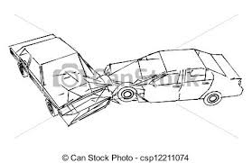stock illustrations of car accident car crash accident sketch