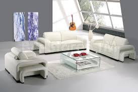 Modern Leather Living Room Set 6 Pc Modern Leather Living Room Set In White Sofa Loveseat White