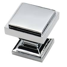 square brushed nickel cabinet pulls southern hills polished chrome square cabinet knobs pack of 5