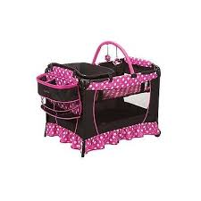 pink play pen baby minnie mouse pack n bassinet changer newborn
